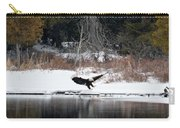 Eagle On The Shoreline Carry-all Pouch
