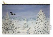 Eagle On Winter Lanscape Carry-all Pouch