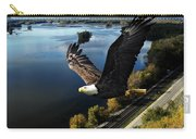 Eagle Over Mississippi  Carry-all Pouch