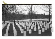 Eagle Point National Cemetery In Black And White Carry-all Pouch by Mick Anderson