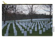 Eagle Point National Cemetery In Winter 1 Carry-all Pouch