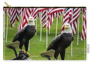 Eagles And Flags On Memorial Day Carry-all Pouch