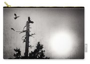 Eagles And Old Tree In Sunset Silhouette Carry-all Pouch