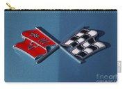 Early C3 Corvette Emblem Blue Carry-all Pouch