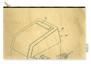 Early Computer Mouse Patent Yellowed Paper Carry-all Pouch