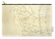 Early Hand-drawn Southern Texas Map C. 1795 Carry-all Pouch