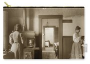 Early Kitchen With A Wood Kitchen Stove Circa 1906 Carry-all Pouch