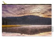 Early Morning Lake Light Carry-all Pouch by Robert Bales