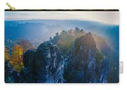 Early Morning Mist At The Bastei In The Saxon Switzerland Carry-all Pouch