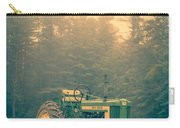 Early Morning Tractor In Farm Field Carry-all Pouch