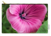 Early Summer Blooms Impressions - Bright Pink Malva - Vertical View Carry-all Pouch