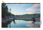 Early Sunset On A Beaver Pond  Carry-all Pouch