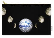 Earth And Phases Of The Moon Carry-all Pouch
