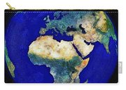 Earth From Space Europe And Africa Carry-all Pouch