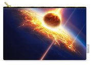 Earth In A  Meteor Shower Carry-all Pouch