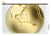 Earth In Gold Metal Isolated On White Carry-all Pouch