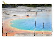 Earth Rainbow - Overhead View Of Grand Prismatic Spring In Yellowstone National Park.  Carry-all Pouch