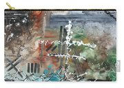 Earth Wind And Fire Abstract Painting Madart Carry-all Pouch by Megan Duncanson