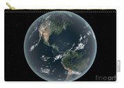 Earths Western Hemisphere With Rise Carry-all Pouch