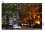 East 44th Street - Rhapsody In Blue And Orange - Close View Carry-all Pouch