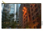 East 44th Street - Rhapsody In Blue And Orange Carry-all Pouch