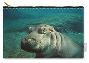 East African River Hippopotamus Baby Carry-all Pouch