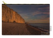 East Cliff Sunset Dorset Carry-all Pouch