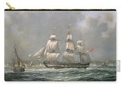 East Indiaman Hcs Thomas Coutts Off The Needles     Isle Of Wight Carry-all Pouch by Richard Willis