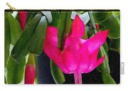 Easter Cactus Digtial Painting Square Carry-all Pouch