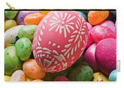 Easter Egg And Jellybeans  Carry-all Pouch