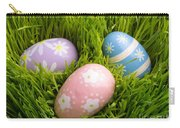 Easter Eggs In The Grass Carry-all Pouch