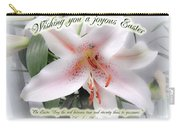 Easter Greeting Card - White Lily With Quote Carry-all Pouch