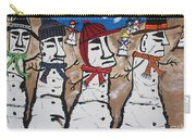 Easter Island Snow Men Carry-all Pouch