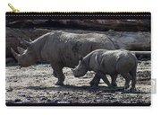Eastern Black Rhinos Mama N Baby Carry-all Pouch