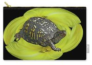 Eastern Box Turtle On Yellow Lily Carry-all Pouch
