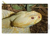 Eastern Diamondback Rattlesnake Albino Carry-all Pouch