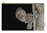 Eastern Screech Owls At Nest Carry-all Pouch