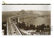 Eastern Span Of San Francisco-  Oakland Bay Bridge Circa 1937 Carry-all Pouch
