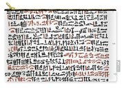 Ebers Papyrus, C1550 B.c Carry-all Pouch