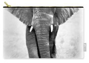 Ebony Ivory African Elephant Carry-all Pouch