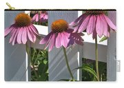 Echinacea And A White Picket Fence Carry-all Pouch