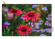 Echinacea And Yarrow Carry-all Pouch by Omaste Witkowski