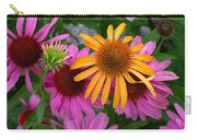 Echinacea Mango Meadowbrite Carry-all Pouch