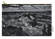 Echo Park From The Ridge Black And White Carry-all Pouch