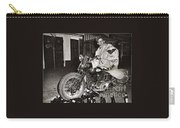 Eddie Davenport Of Tulare California On A Motorcycle Hollister  July 7 1947 Carry-all Pouch
