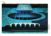 Edgy Abstract Eclectic Guitar 16 Carry-all Pouch by Andee Design