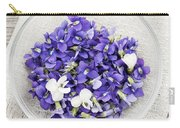 Edible Violets  Carry-all Pouch