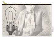 Edison And Electric Lamp Patent Carry-all Pouch