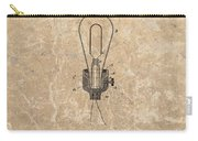 Edison Electric Lamp Patent Marble Carry-all Pouch