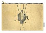 Edison Light Bulb Patent Art Carry-all Pouch